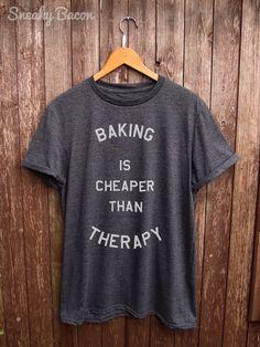 Baking T shirt Black baking prints funny por SneakyBaconTees