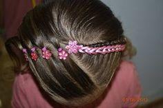 Peinado con cinta Little Girl Hairstyles, Cute Hairstyles, Braided Hairstyles, Hair Removal Remedies, Baby Girl Hair, Hair Game, Toddler Hair, Braids For Long Hair, Tips Belleza