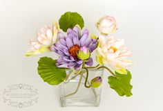 Цветы из полимерной глины, deco, clay flowers