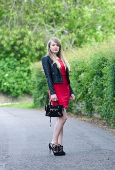 170f5fcca6 Red Dress With Leather Jacket http   raindropsofsapphire.com 2014 06