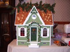 Front of House - Juli's Dollhouse (Dura-Craft Lafayette Dollhouse) - Gallery - The Greenleaf Miniature Community