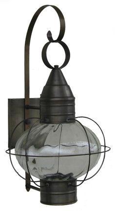 onion lamps | Solid brass onion lamp with optic glass- made at Sandwich Lantern of ...