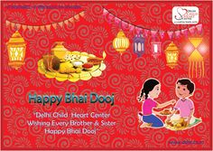 Happy Bhai Dooj To All Brothers and Sisters Brother Sister, Sisters, Siblings, Children, Happy, Centre, Celebration, Heart, Young Children