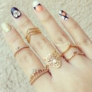 Super Tiny Crystal Knuckle Ring