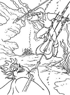 The little mermaid 2 coloring pages Google sgning Coloring