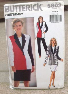 1991 Uncut Fast and Easy   Butterick Pattern by lovelylovepatterns, $4.25