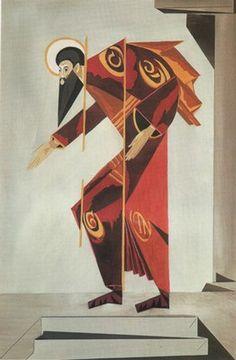 "Costume designs by Natalia Goncharova from the ballet to spiritual music ""Liturgy"", 1915"