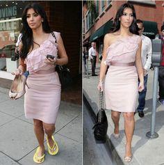 Sempre falo que quando uso salto fico uns 5 kg mais magra. Kim que o diga. Aliás, a última coisa que Kim tem se importado é em usar roupas que favoreçam seu shape curvilíneo. Essa foi demais… E ok, vou fingir que acredito que tudo aí é natural. Aham… senta lá Kim. Mas adoro ela.