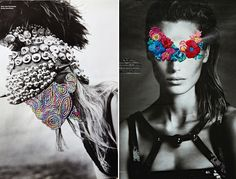 Newserie Newserie Chilean artist Jose Romussi embroiders flowers and geometric doodles over pages of fashion editorials.