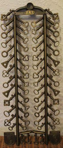 Old Vintage Antique German Keytree (Schlüsselbaum);1800 - 1900´s  from City Velbert Nordrhein, Westfalen Germany ~ 58 old keys on the Keytree samples from the Castle & House Keys from City Velbert / eBay