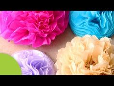 Como hacer Flores decorativas de papel