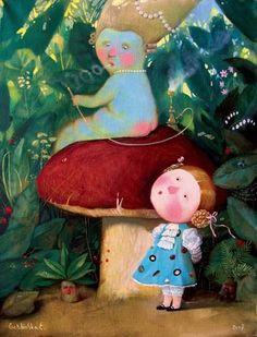 """Евгения Гапчинская «Алиса в стране чудес»   """"Картинки и разговоры"""""""