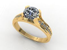 Ring 022 3D Model .max .c4d .obj .3ds .fbx .lwo .stl @3DExport.com by JJCHOU