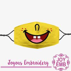 Applique Embroidery Designs, Embroidery Files, Crochet Wallet, Crochet Mask, Elephant Applique, Face Masks For Kids, Animal Crafts For Kids, Fashion Face Mask, Diy Face Mask