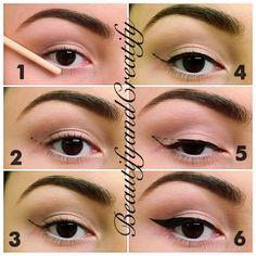 Winged eyeliner for beginners