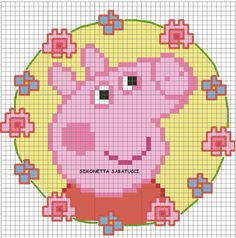 Newest Pic knitting charts disney Ideas Trendy knitting charts disney free crochet ideas Trendy knitting charts disney free crochet Cross Stitching, Cross Stitch Embroidery, Cross Stitch Patterns, Peppa Pig Crochet, Knitting Charts, Knitting Stitches, Free Knitting, Beading Patterns, Embroidery Patterns