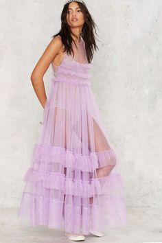 Nasty Gal I'll Take That Net Ruffle Dress