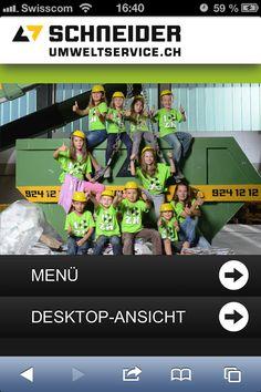 STREUPLAN | Agentur für integrierte Below the Line-Kommunikation: Mobile Site für die Schneider Umweltservice AG