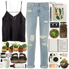 """Cactae"" by child-of-the-tropics on Polyvore"
