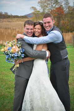 Love this pic of the bride and groom with the best man!  KyWeddingPhoto.com Four Leaf Photography - Louisville Wedding Photographer