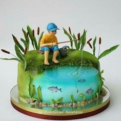 ak … Mark a friend who likes to fish. Regrann by Heather Cakes.ak – Amazing Cake Designs – the Crazy Cakes, Fancy Cakes, Cute Cakes, Beautiful Cakes, Amazing Cakes, Fisherman Cake, Fish Cake Birthday, Cake Blog, Cakes For Men