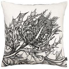 Timorous Beastie Thistle cushion