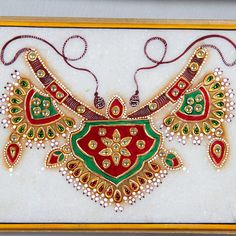 Buy Superb Frame online. ✯ 100% authentic products, ✯ Hand curated, ✯ Timely delivery, ✯ Craftsvilla assured. Marble Jewelry, Bead Jewellery, Clay Jewelry, Jewelry Art, Textile Jewelry, Mysore Painting, Tanjore Painting, Mughal Paintings, Indian Art Paintings