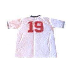 5b91de663  England 1990 home retro shirt for Paul Casgoigne(Gaza) with  19 on the  back .