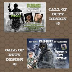 Call of Duty Ghosts Black Ops Birthday Party by KDesigns2006