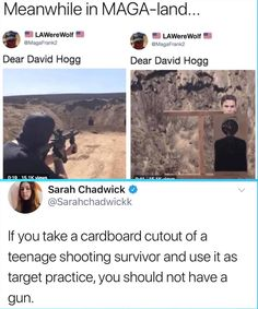 The fact that some people do not see how this is wrong is beyond me. If you place the right to own unnecessary assualt rifles above the importance of actual human lives then you need to sort out your priorities.