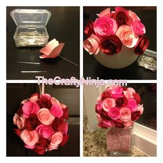 DIY Paper Rose Flower Tutorial