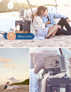 Tiffany & Kim's bedroom on a beach engagement shoot-in Hawai'i!! Ahhh in LOVE with the shots that What a Day! Photography captured of the happy couple!!