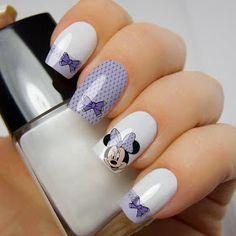 Minnie Mouse Nails, Mickey Nails, Disney Acrylic Nails, Long Acrylic Nails, Fancy Nails, Pretty Nails, Disneyland Nails, Cute Spring Nails, Lavender Nails