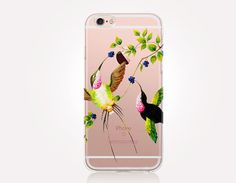 Transparent Hummingbirds iPhone Case Transparent Case by CRCases