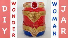 DIY Wonder Woman Jar