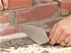 apply generous amount of mortar with spade trowel