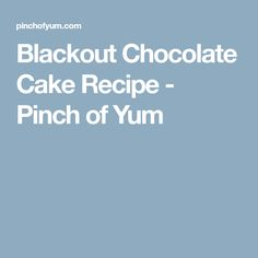 Blackout Chocolate Cake Recipe - Pinch of Yum