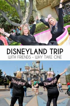 A Disneyland trip with friends can be just what the doctor ordered. Come home renewed, do things you've never done, and more. Check out why a Disneyland trip with friends is important. Disneyland Resort California, First Disneyland, Disneyland Birthday, Disneyland Secrets, Disneyland Vacation, Disney Go, Disney Tips, Disney Cruise Line, Disney Queens