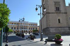 Plaza de España en Badajoz. Badajoz en un dia