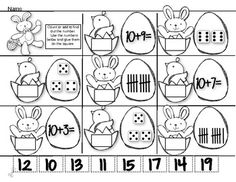 Spring Time-Review Time!    2 Cooperative partner activities for beginning and ending sounds. 2 cut and paste worksheets that review teen numbers with number order and composing teen numbers.  Great for centers, morning work or homework!