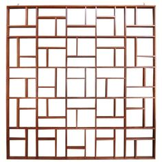 Custom Midcentury Geometric Room Divider | From a unique collection of antique and modern panelling at https://www.1stdibs.com/furniture/building-garden/panelling/