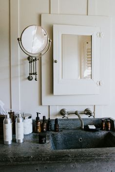48 Creative Cottage Bathroom Design Ideas Trends Home Decoration and Remodelling IdeasCreative Cottage Bathroom Design Creative Cottage Bathroom Design IdeasThe bathroom ha Granite Bathroom, Bathroom Faucets, Small Bathroom, Bathroom Bin, Wall Mount Bathroom Faucet, 50s Bathroom, Bathroom Beadboard, Remodled Bathrooms, Colorful Bathroom