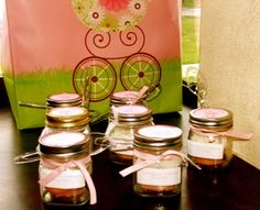 cupcakes in a jar for hospital favors when having a baby... the nurses and your visitors will love them
