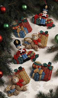 about Bucilla Under The Tree ~ 6 Pce. Felt Christmas Ornament Kit New 2012 Bucilla Under The Tree ~ 6 Pce. Felt Christmas Ornament Kit New 2012 in Crafts, Needlecrafts & Yarn, Embroidery & Cross Stitch Felt Christmas Ornaments, Christmas Art, Christmas Projects, Holiday Crafts, Christmas Stockings, Felt Decorations, Gold Christmas Decorations, Stocking Tree, Felt Applique