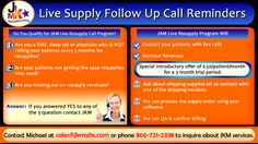 One of the Service offered by JKM to increase your revenue by using Resupply Live Calls.