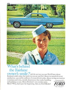 What's Behind The Fairlane Owner's Smile? | Print Ads | hobbyDB