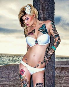 Pretty tattoos, hair, and body!