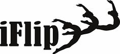 iFlip  Gymnastics Kids Girls Sports Image Quote Vinyl Wall Sticker Decal For Home Decor  22 Inches x 10 Inches Color Black * Details can be found by clicking on the image.