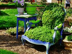 Beautiful example of a grass chair DIY project. Find out how you can make yourself a grass armchair at: http://impressivemagazine.com/2013/07/10/how-to-make-a-living-grass-armchair/ #grassarmchair