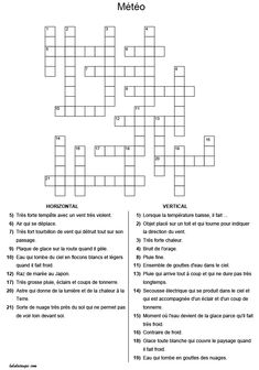 French Worksheets, Learning Games For Kids, Teaching French, Working With Children, Crossword, Learn French, Teaching Tips, Education, Math